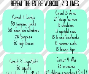 abs, cardio, and arms image