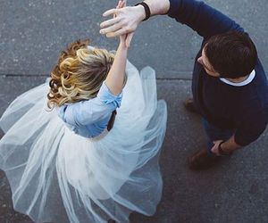couple, love, and dance image