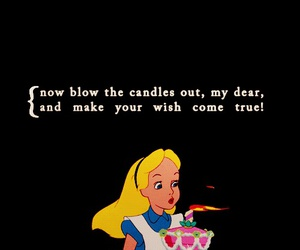 birthday, alice, and candle image