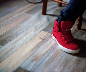 red, supras, and shoes image