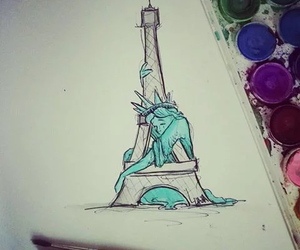 paris, pray for paris, and draw image