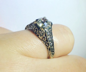 ring, engagement ring, and antique engagement ring image
