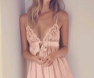 lingerie, pink, and style image