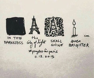 city, Darkness, and france image