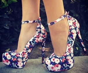 heels shoes floral image