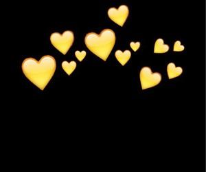 heart, emojis, and yellow image