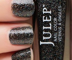 fashion, glitter, and manicure image