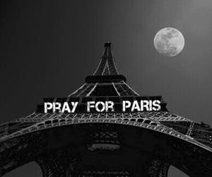paris, moon, and night image