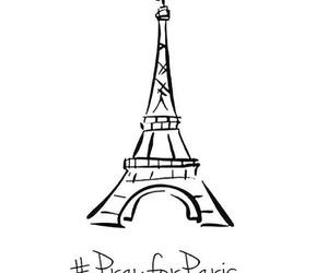 prayforparis, paris, and pray for paris image