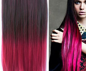 brown, pink, and ombrehair image