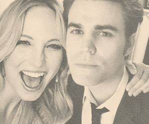 paul wesley, candice accola, and stefan salvatore image
