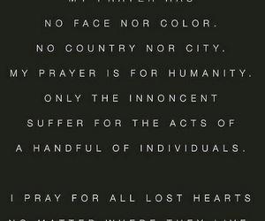 humanity, paris, and prayers image