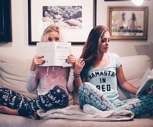 friends, friendship, and book image