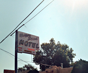 america, desert, and motel image