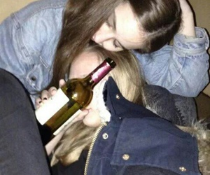 girl, alcohol, and drunk image