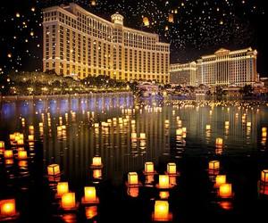 Las Vegas, lights, and bellagio image