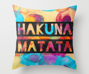 hakuna matata, lion king, and pillow image