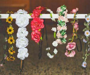 flowers, summer, and headband image