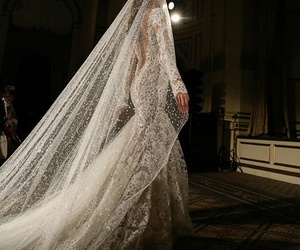 dress, wedding, and luxury image