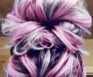 bun, haïr, and pink image