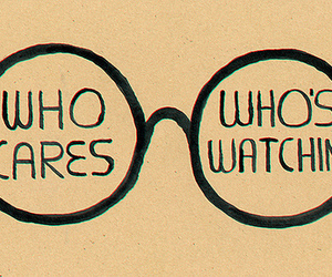 glasses, who cares, and quotes image