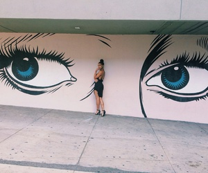eyes, girl, and art image