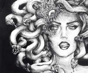 medusa, art, and snake image