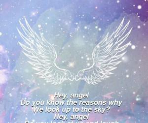 lyric, hey angel, and one direction image