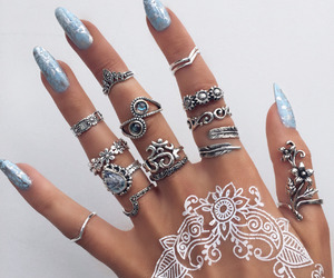 nails, rings, and henna image