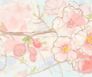 art, wallpaper, and cherry blossoms image