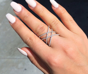 etsy, cross ring, and stack rings image