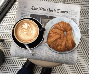 croissant, fitness, and morning image