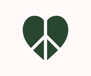 green, heart, and love image