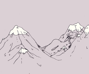 mountains, art, and grunge image