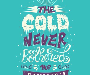 frozen, cold, and quote image