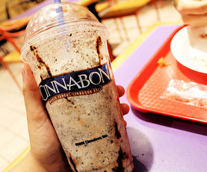 cinnabon, drink, and delicious image