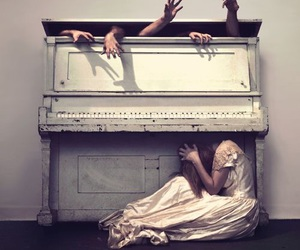 piano, hands, and music image