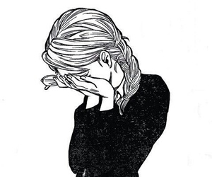 cry, art, and black and white image