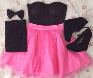 pink, fashion, and black image