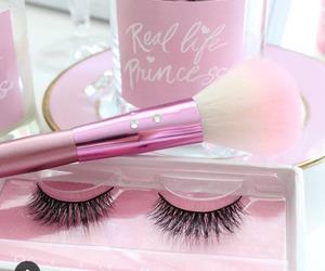 make, pink, and beauty image