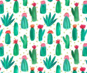 cactus, unicorns, and wallpaper image