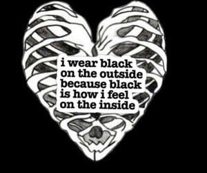 black, quotes, and heart image