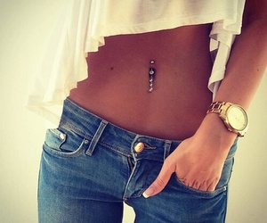 piercing, jeans, and body image