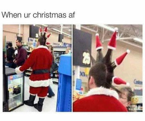 funny, christmas, and santa image