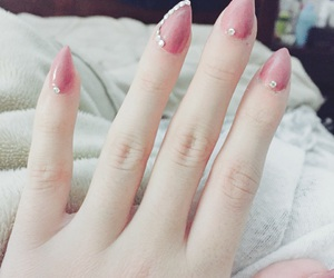diamonds, pink, and nails image