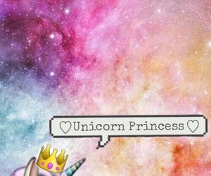 unicorn, princess, and wallpaper image