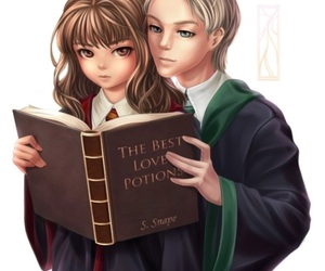 art, draco malfoy, and harry potter image