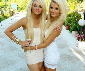 blondes, friends, and nice legs image