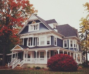 autumn, house, and home image