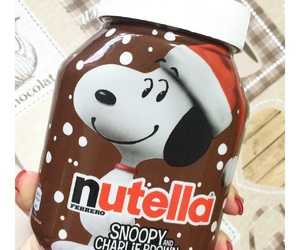 nutella, chocolate, and snoopy image